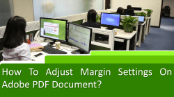 How to Adjust margin settings on Adobe PDF document-converted