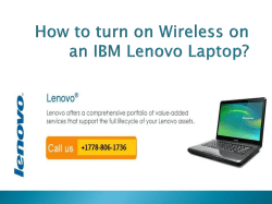 How To Turn On Wireless On An IBM Lenovo Laptop-converted
