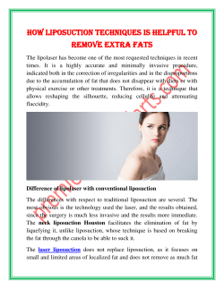 How liposuction techniques is helpful to remove extra fats