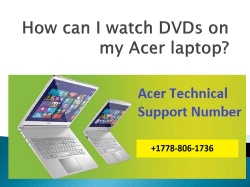 How can I watch DVDs on my Acer-converted