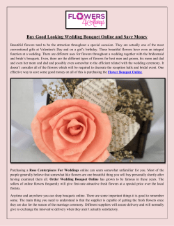 Buy Good Looking Wedding Bouquet Online and Save Money