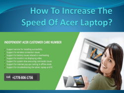 How To Increase The Speed Of Acer Laptop-converted