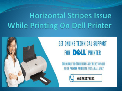 Horizontal Stripes Issue While Printing On Dell Printer-converted