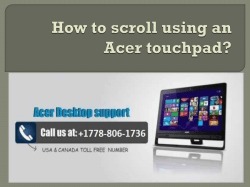 How to scroll using an Acer touchpad-converted
