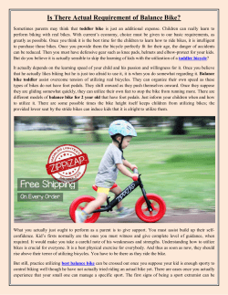 Is There Actual Requirement of Balance Bike