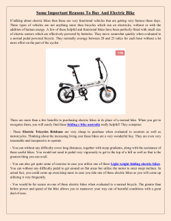 Some Important Reasons To Buy And Electric Bike