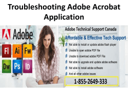 Troubleshooting Adobe Acrobat Application-converted