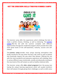 Get the enriching skills through Summer Camps