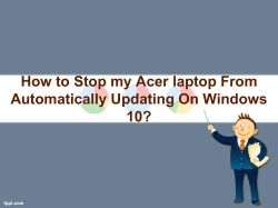 How to stop my Acer laptop from automatically updating on Windows 10-converted