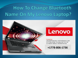 How To Change Bluetooth Name On My Lenovo