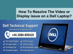 How to resolve the video or display issue on a Dell laptop-converted