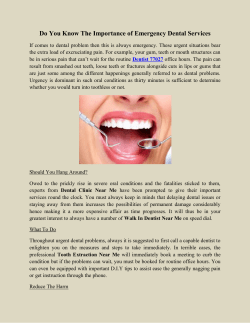 Do You Know The Importance of Emergency Dental Services