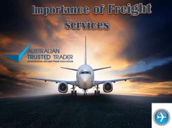 Importance of Freight services