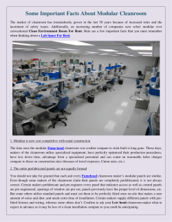 Some Important Facts About Modular Cleanroom