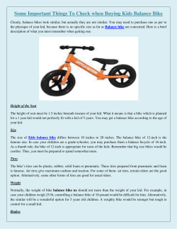 Some Important Things To Check when Buying Kids Balance Bike