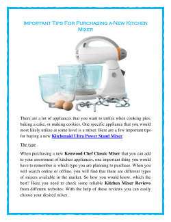 Important Tips For Purchasing a New Kitchen Mixer