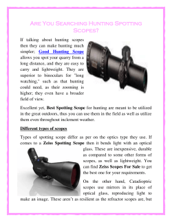 Are You Searching Hunting Spotting Scopes