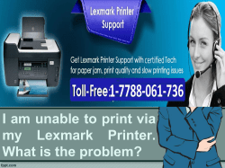 I am unable to print via my Lexmark Printer. What is the problem-converted