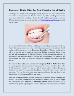 Emergency Dental Clinic For Your Complete Dental Health