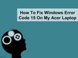 How To Fix Windows Error Code 15 On My Acer laptop-converted