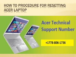How To Procedure for resetting Acer Laptop-converted