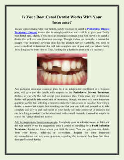 Is Your Root Canal Dentist Works With Your Insurance