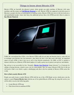 Things to know about Bitcoin ATM