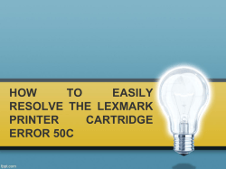 HOW TO EASILY RESOLVE THE LEXMARK PRINTER CARTRIDGE ERROR 50C-converted