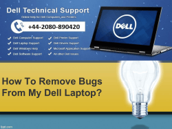 How To Remove Bugs From My Dell Laptop-converted