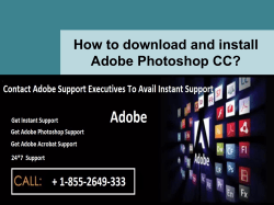 How to download and install Adobe Photoshop CC-converted