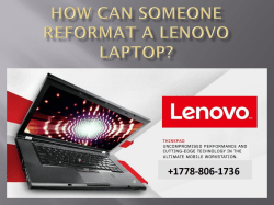 How Can Someone Reformat A Lenovo Laptop-converted
