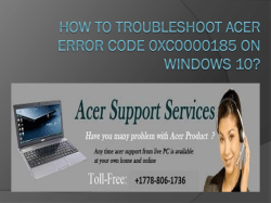 How To Troubleshoot Acer Error Code 0XC0000185 On-converted