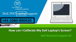 How can I calibrate my Dell laptop's screen