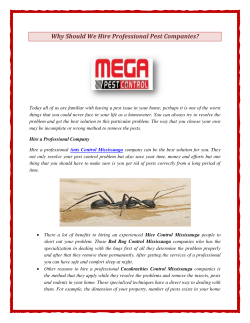 Why Should We Hire Professional Pest Companies