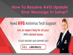How To Resolve AVG Update Error Message In