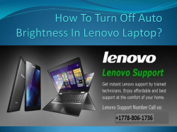 How To Turn Off Auto Brightness In Lenovo