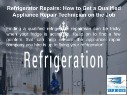 Finding a Commercial Refrigeration Service Specialist - Going Through the Selection Process