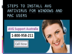Steps To Install AVG Antivirus For Windows And