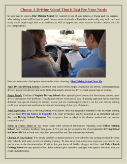 Choose A Driving School That is Best For Your Needs