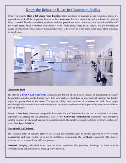 Know the Behavior Rules in Cleanroom facility