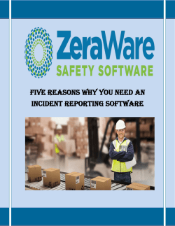 Five Reasons Why You Need an Incident Reporting Software