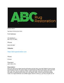Rug Repair & Restoration Noho