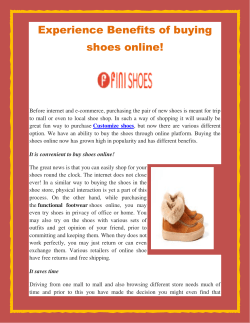 Experience Benefits of buying shoes online