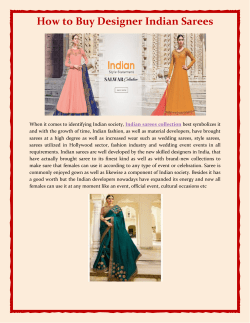 How to Buy Designer Indian Sarees
