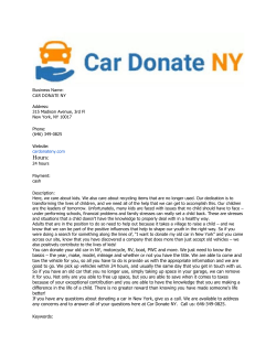 CAR DONATE NY