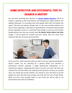 Some Effective And Successful tips To Search A Dentist (1)