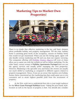 Marketing Tips to Market Own Properties