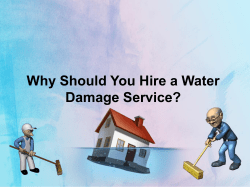 Why Should You Hire a Water Damage Service