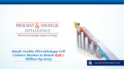 Saudi Arabia Microbiology Cell Culture Market Report 2023