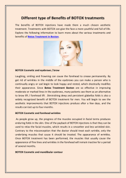 Different type of Benefits of BOTOX treatments